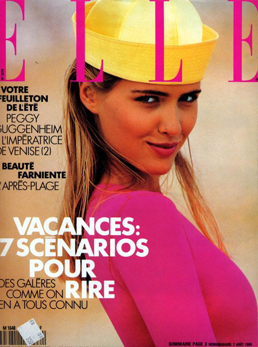 Elle France, August 1989. Model: Judit Mascó.