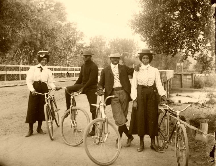 eternallybeautifullyblack:  Black Victorians out for a bike ride, circa 1900.