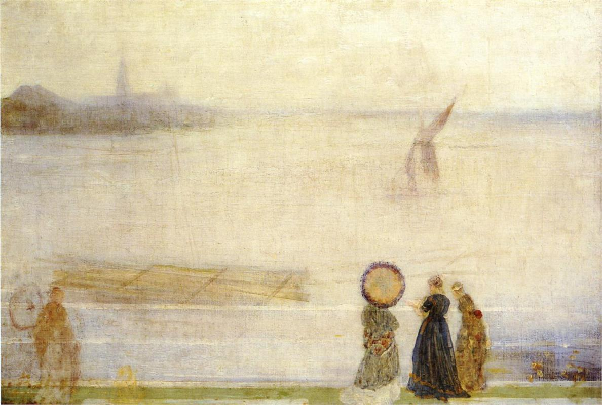 James McNeill Whistler Battersea Reach from Lindsey Houses, c. 1863