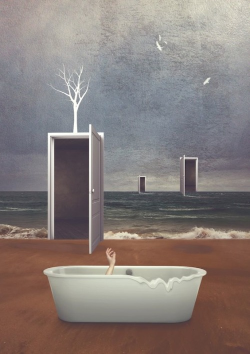 surrealism:  The Birthplace of Madness by Michael Vincent Manalo, 2013. Mixed-media, 80 x 57 cm.