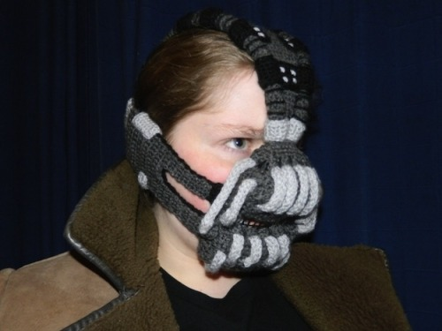Awesome Etsy thing of the day: Crocheted Bane mask By Rose Pope
