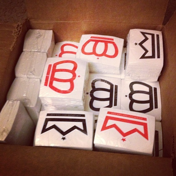 "We just replenished the King and Queen ""Crown"" stickers. You can get yours with your next K.R.T. purchase. #yeawelovethemstickers #stickers #crowns #queen  #king #kingsruletogether #KRT"
