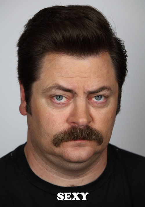 nbcparksandrec:  Today, Ron is feeling sexy.