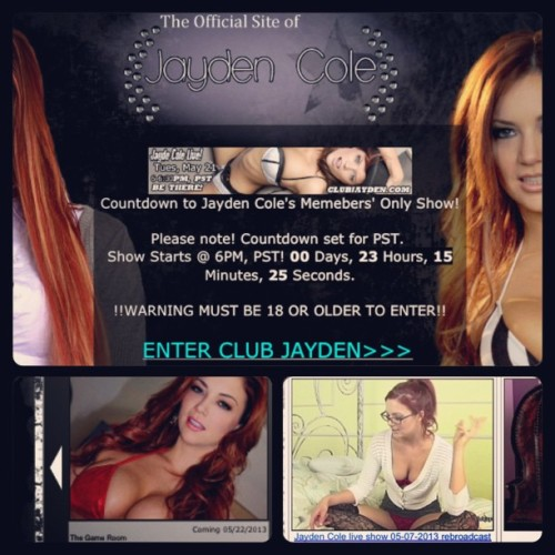 Live show countdown/update schedule/past show archives- All up for ClubJayden.com members! 🚺/🚺🚺/🚺🚺🚺