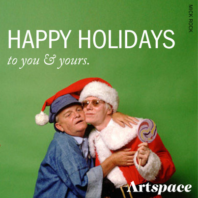 Re-blog this to wish your followers a happy holiday! (The art pictured above: Truman Capote and Andy Warhol by Mick Rock)