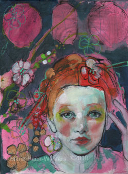 Mixed media work by Maria Pace-Wynters.