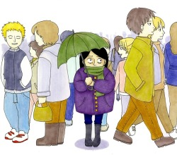 "hitrecord:  ""Social Phobia"" Illustration by Dona Ardiana"