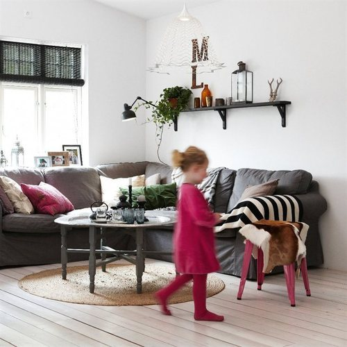 gray and pink (via IKEA)