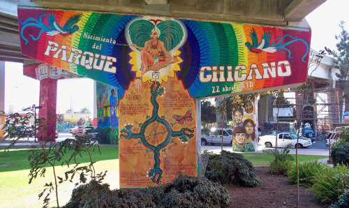 "thinkmexican:  Chicano Park Entered Into National Register of Historic Places  From takeover of CHP sub-station to listed on the National Register of Historic Places. Not bad, Chicano Park. Not bad.  The architectural style listed in the park's application for historic recognition: Aztec Revival. Chingón!  Read what the San Diego Union-Tribune had to say:  San Diego's Chicano Park has been entered into the National Register of Historic Places.  The designation, which officially occurred on Jan. 23, recognizes the park for its ""critical association with the Chicano Civil Rights Movement and events that have made a significant contribution to the broad patterns of the city of San Diego's political and social history,"" according to the materials filed in support of the park's entry, which were submitted last year by the California State Historical Resources Commission.  The inclusion on the register also acknowledges the significance of the park's internationally acclaimed murals, ""created by a large groups of artists, including the masters of the Chicano Movement muralism."" Read more.  Visit the official Chicano Park website.  Photo credit: California Office of Historic Places  Stay Connected: Twitter 
