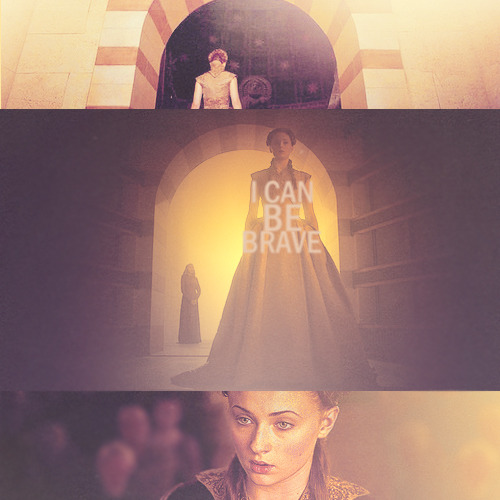 """Wolves are supposed to be brave, aren't they?"" Brave. Sansa took a deep breath. I am a Stark."