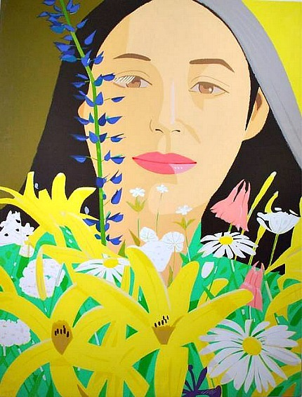 Alex Katz Ada with Flowers  1980