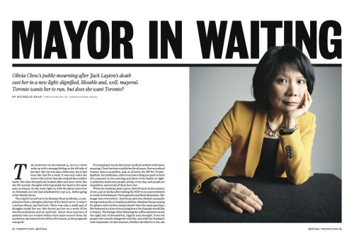 CHRISTOPHER WAHL - photographed Olivia Chow for Toronto Life Magazine