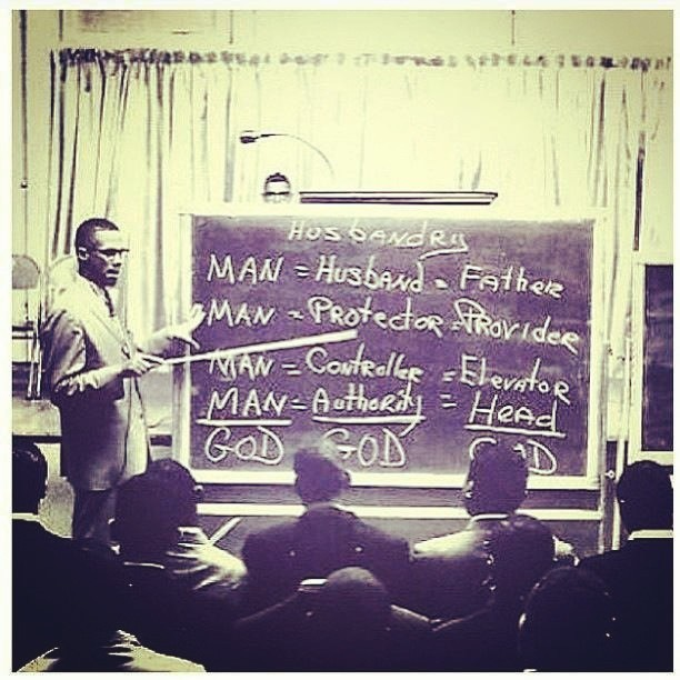 Look at Bro. Min. Malcolm X  teaching on the math.