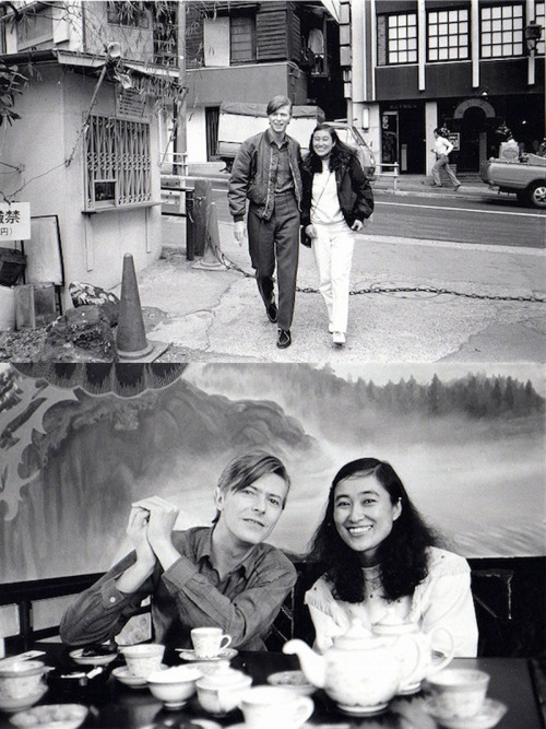s-hayashi:  David Bowie in Japan (with Yasuko Takahashi, 1980)