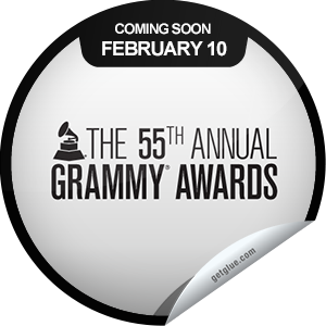 I just unlocked the 55th Annual GRAMMYs Coming Soon sticker on GetGlue                      10804 others have also unlocked the 55th Annual GRAMMYs Coming Soon sticker on GetGlue.com                  You can't wait for Music's Biggest Night, and with all the amazing performances scheduled, we can't blame you. Don't miss the 55th Annual GRAMMY Awards, 8:00 PST, February 10, 2013 on CBS! Share this one proudly. It's from our friends at The GRAMMY Awards.