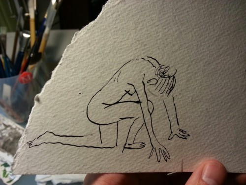 Just found a naked lady that I drew (from life) last summer.