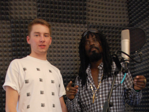 Recording session with Cornell Campbell in July 2012