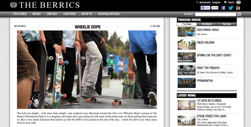 Sighting on the Berrics.