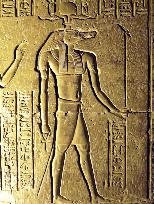 aboutegypt:  Sobek, the crocodile god, at Kom Ombo Temple (by SonomaPicMan)
