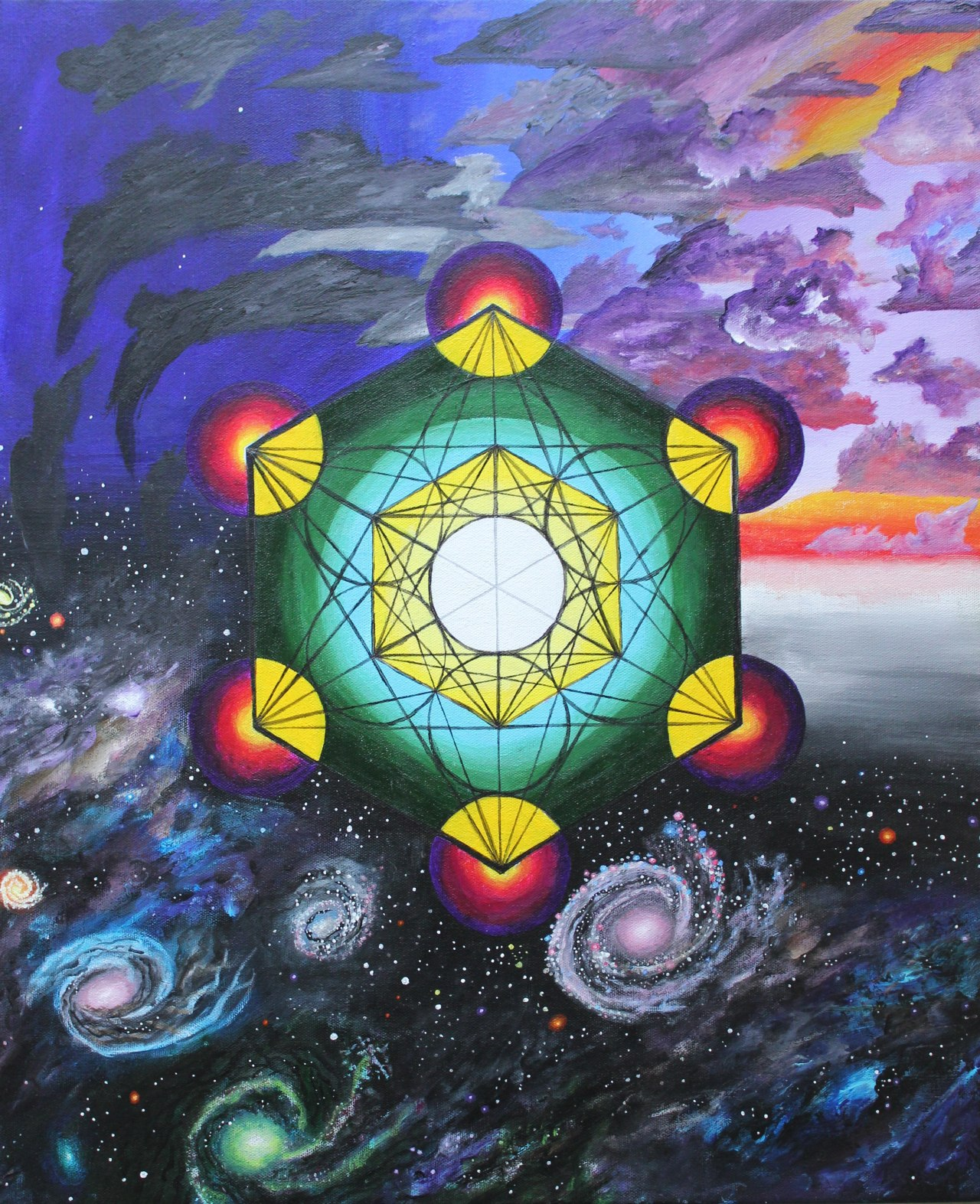 the-boundless:  Metatron's Cube, by Andrew Escudero. Acrylic on canvas.