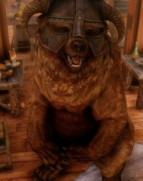 DOVAHBEAR IS THE BEST COMPANION EVER! http://skyrim.nexusmods.com/mods/30638