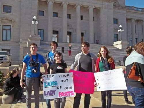 Me and other UCA Young Democrats at the Rally for Reproductive Rights in Little Rock!