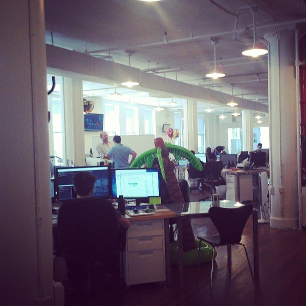 A peak at the Chartbeat office and I'm already jealous