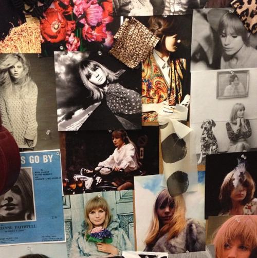 A great inspiration board at WHIT for fall.  Photographed by Julia Rubin