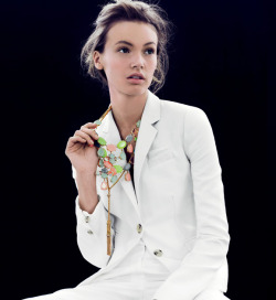 j.crew jewels + an all white look.