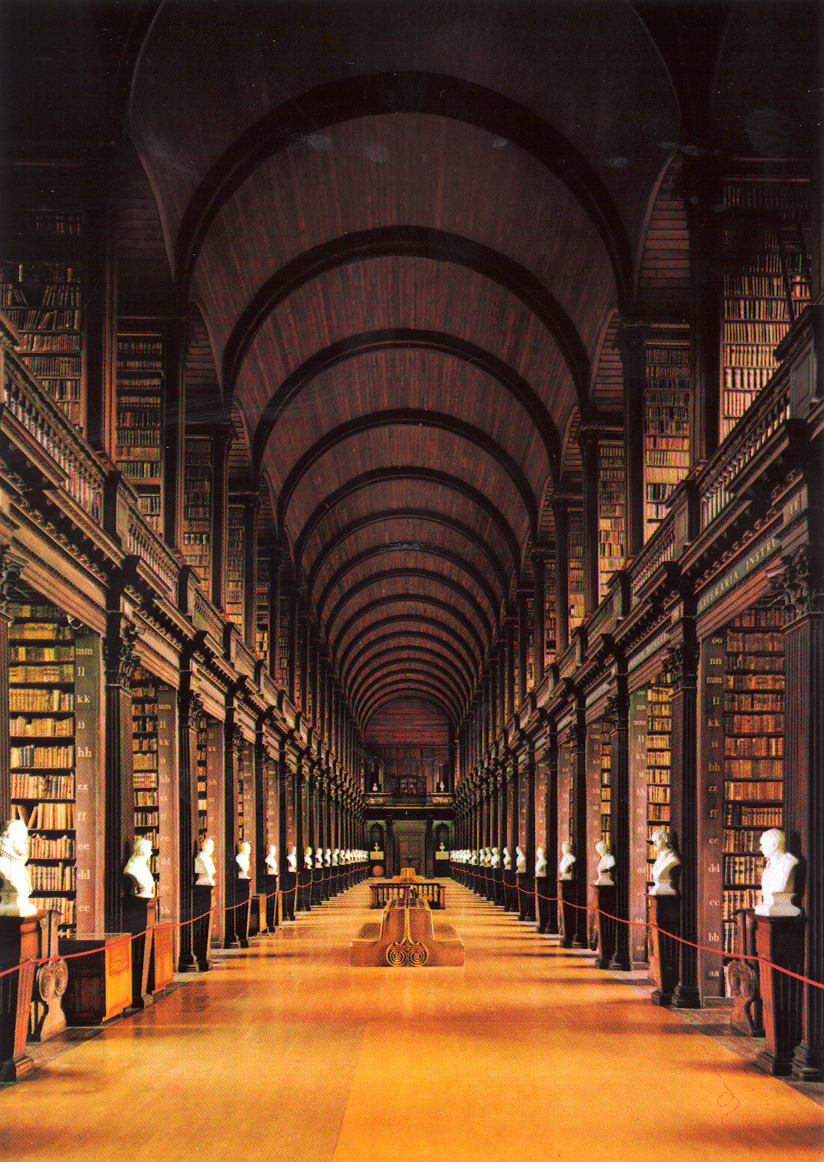 Trinity College Library, Dublin, Ireland (photo via)