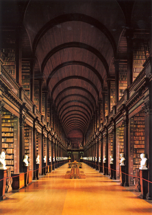 allthingseurope:  Trinity College Library, Dublin, Ireland (photo via)