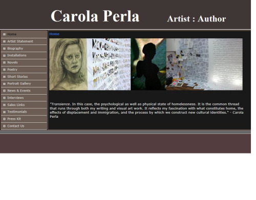 My new artist/author website! www.carolaperla.com