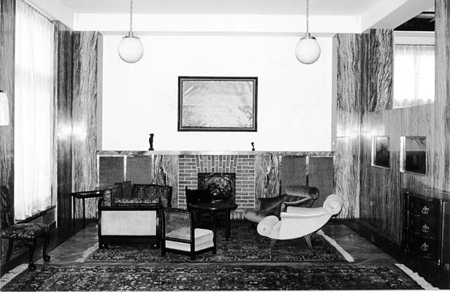 architecturalstudio:  Photographs (and Section) of Adolf Loos' Villa Muller. I tried to compile images that showed the relationship between the main lounge with other elements of the building such as the ladies boudoir, entry circulation and the dining room.