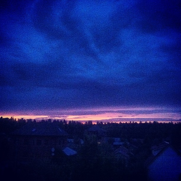 #sky #blue #sunset #summer #russia