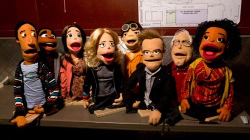"Community Puppets.  According to THR, """"the study group recounts their adventures in the woods, which has left them feeling a little awkward with one another, and Dean Pelton (Jim Rash) encourages them to speak about their experience with the use of puppets."" In other Community news: Dean wrote an episode.   Rash, an Oscar-winning scribe for The Descendants, penned an episode that pays homage to Freaky Friday. McHale called the episode ""one of the best we've ever done."" It will feature besties Troy and Abed, with a heavy body-switching element."