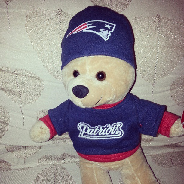 Say supp…1 of 4 bears this is the smallest one #patriotsnation #newenglandpatriots