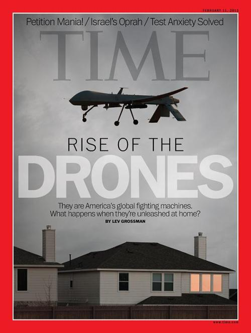 timemagazine:  The latest issue of TIME, featuring cover story, 'Rise of the Drones,' will hit newsstands Friday. Read the story here. (Cover: Dan Winters for TIME)   Skynet's gpoy
