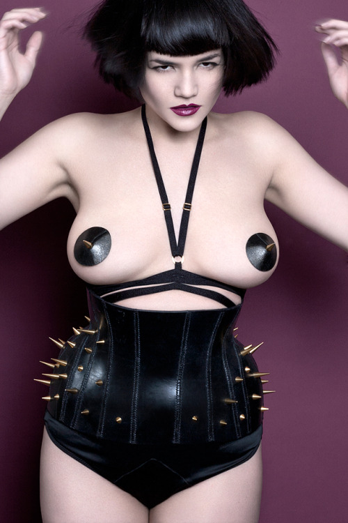catherine-day:  Photography: Catherine DayModel: Tessa KuragiHarness and spike pasties: Karolina LaskowskaSpike corset: Tamzin Lillywhite