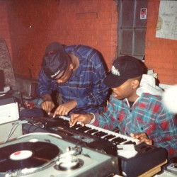 Me and K-Tone in my grandmother's basement in 1991 #D2ThaS  #westartedthisshit #pockettown #startedfromthebottom #KING