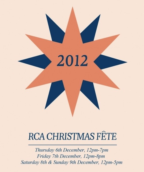 RCA christmas fete. Our cards are being sold as part of the fete between the 6th - 9th December. We are also listed in the time out upcoming events.  http://www.timeout.com/london/around-town/event/31397/royal-college-of-art-christmas-fete