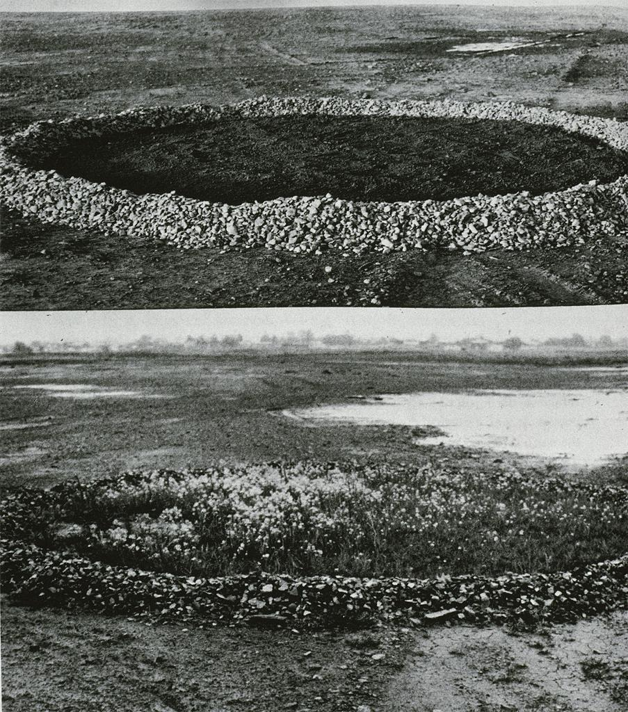 flosvitae:  Alan Sonfist, Pool of Earth, 1975