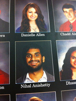shannomsnowing:  My friend Nihal submitted a picture of Aziz Ansari for his senior picture.