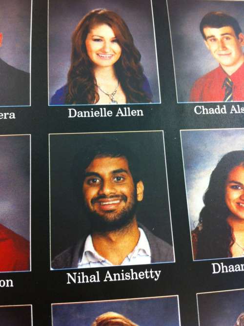 My friend Nihal submitted a picture of Aziz Ansari for his senior picture.