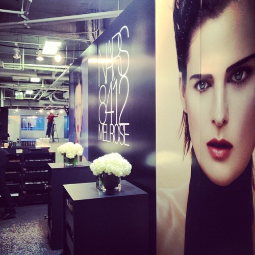 At the Nars booth! They have some amazing new product launches. The best part? Everything's 30% off!  (at Los Angeles Fashion District)