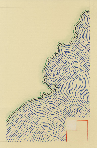 davidbuckleyborden:    Fun-A-Day Drawing: Jan 1 New England Offset Map