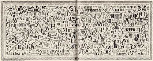 Printer's Pie typographic mural by Alan J Bastien, c. 1955 (via delicious industries)