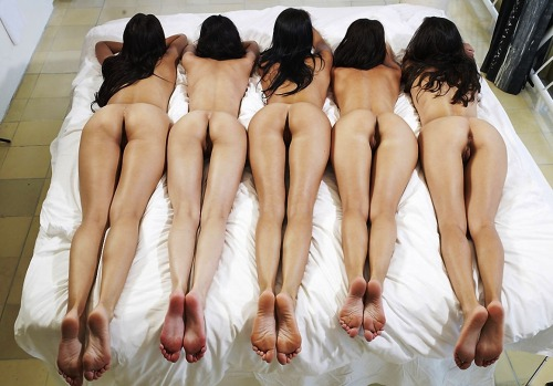 Nice group of naked bare bottoms!Source unknown (sorry)
