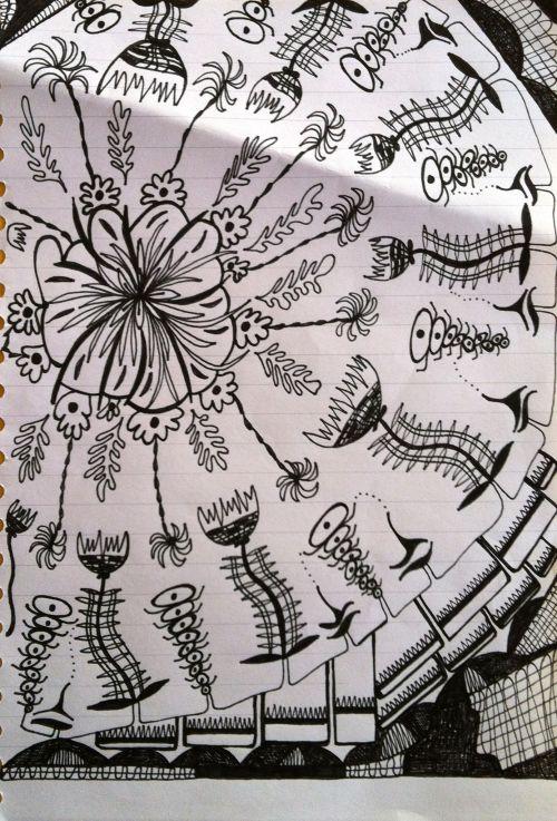 doodle doodling in meetings flower doodles