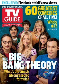 Let's hear it for 'The Big Bang Theory' who grace the cover of this week's TV Guide cover featuring the Best TV Comedies of All Time! The series reveals its secrets (shhhh….) just in time for Thursday's season finale 8/7c on CBS. See you then!