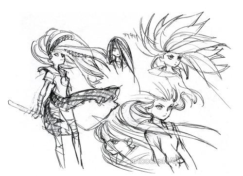 artbooksnat:  Awesome Kill la Kill (キルラキル) initial design art of Ryuko Matoi by Little Witch Academia creator Yoh Yoshinari (吉成曜) in The Art of KLK Vol.1.